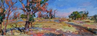 autumn in the steppe,impressionistic painting