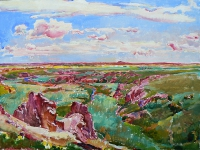 Azov steppe, landscape painting