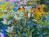 lilies,flower painting by ukrainian artist