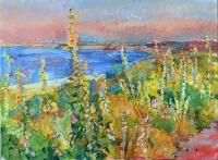 mallow near the sea, artwork