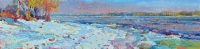 oil paintings of winter landscapes,Dnieper