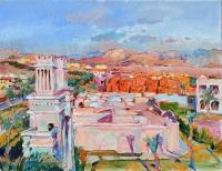 Oriental landscape, picture by modern artist