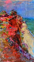 Seascape, sunset painting