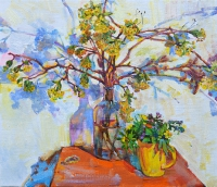 """ Flowering branches""  spring still life"