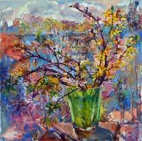 Bloming branches still life