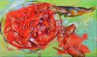 crawfish painting