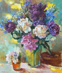 Peonies - flower painting