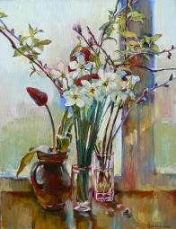 """Spring flowers""oil painting pictures"