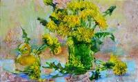 Still life dandelions