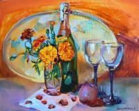 still life painting «Сhampagne»