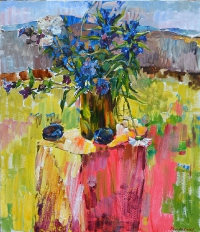 Summer still life - oil painting